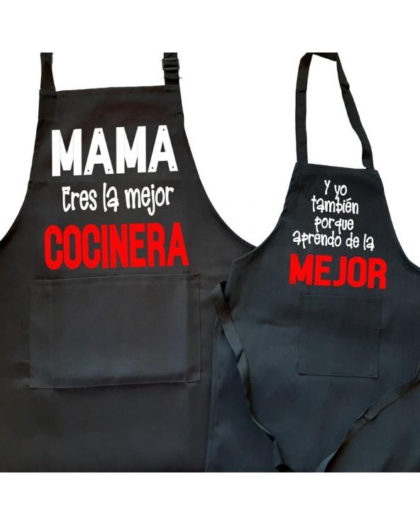 Pack 2 delantales Mama la...